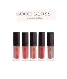 Lovely little glosses!  a review by Michelle P.