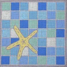 "Summer Seas Starfish | 7.25"" x 7.25"" | $69."