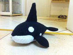 Orka #häkeln #amigurumi #crochet #orca