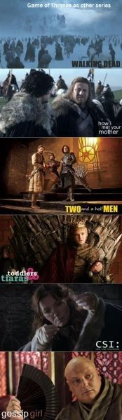 Game of thrones as other series...;)