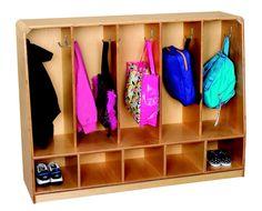 5-Section Toddler Bench Coat Locker