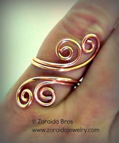 This adjustable spiral ring is quite easy to make with just a little wire, a bit of muscle and a few standard tools. Supplies - Two 6 inch pieces of round, soft, 16 gauge wire One 14 (or more...