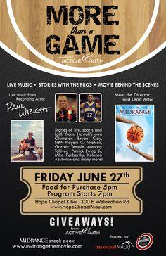 Basketball event flyer design by www.BrandAndBrush.com for basketballMAUI. #graphicdesign #poster #flyer #athletes #event