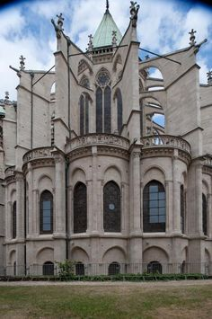 Basilique St. Denis, France. Exterior, east chevet elevation