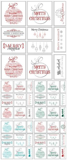 Free Printable Christmas Signs Holiday words, Word art and Free - free christmas word templates