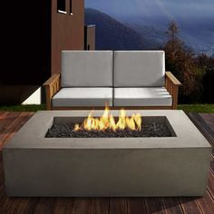 Baltic Concrete Propane Fire Pit Table