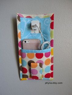 Phone charger caddy.
