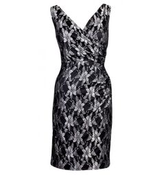 Evan Picone Black Lace Empire Dress 12 Price: $99.00  ours 4 Less $41.99