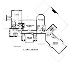 Second Floor Plan of Country   Tudor   House Plan 53803 - perfect