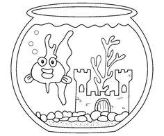 prentresultaat vir goldfish coloring page - Goldfish Coloring Page