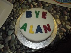 Good bye and good luck in your new job Alan