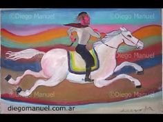 Serie Gauchos Argentinos. Pinturas de Diego Manuel.
