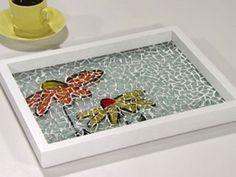 Manualidades y Artesanías | Bandeja con mosaicos | Utilisima.com