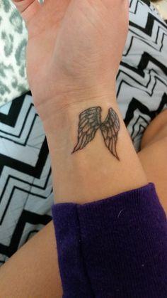 My recent tattoo on my wrist :) Victoria's Secret Wings.