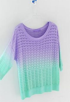 Gradient knitwear colorful sweater from Fanewant