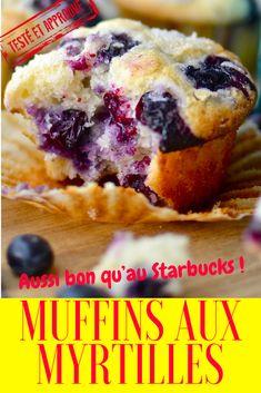 Recette des muffins aux myrtilles du Starbucks Coffee ! muffins starbucks recette | muffins aux myrtilles | muffins myrtilles | muffins myrtilles americain | muffins myrtilles facile | muffins myrtilles yaourt | recette muffins facile | recette muffins moelleux | recette muffins americain | recette muffins minceur | recette muffins rapide | recette muffins vanille | recette muffins sucre | recette muffins myrtille | recette muffins yaourt | recette muffins enfant | recette muffins sans lait Best Blueberry Muffins, Blue Berry Muffins, Cupcake Cookies, Cupcakes, Dessert Cups, Beignets, Churros, Cookies Et Biscuits, Macarons