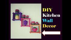 DIY kitchen wall decor.hanging | easy popstick craft | home decor