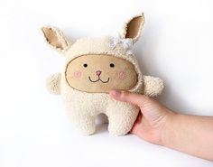 Cuddle Bunny Stuffed Plush Toy - Babyshower Gift - Nursery Decor - Baby Bunny Plushies