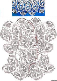 "Photo from album ""ШАЛИ крючком"" on Yandex. Modern Crochet Patterns, Crochet Doily Patterns, Crochet Motif, Crochet Shawl, Free Crochet, Simple Crochet, Crochet Triangle, Crochet Tablecloth Pattern, Crochet Doily Diagram"