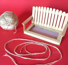 Make a Swing Bench Bird Feeder: 9 Steps (with Pictures) Popsicle Stick Crafts, Craft Stick Crafts, Wood Crafts, Diy And Crafts, Crafts For Kids, Popsicle Sticks, Craft Sticks, Wood Projects, Projects To Try