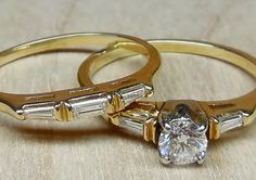 Vintage Antique .50ct G SI1 Diamond 14k Yellow by DiamondAddiction, $575.00
