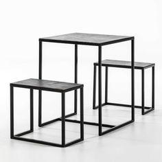 Set masă și 2 scaune Thai Natura, înălțime 76cm | Bonami 60x60 Interior, Modern, Table, Furniture, Design, Home Decor, Trendy Tree, Decoration Home, Indoor
