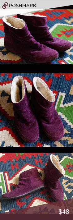 Lucky brand purple winter booties!🌂🙆🏻🎆 Worn maybe like, twice. Beautiful inside and out. Winter only just started! Step up your game with these gorgeous ankle boots!  Make an offer! 💜 Lucky Brand Shoes Ankle Boots & Booties