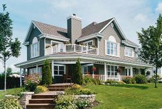 Farmhouse House Plan chp-6789 at COOLhouseplans.com