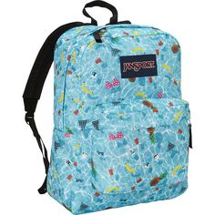 JanSport SuperBreak Backpack ($30) ❤ liked on Polyvore featuring bags, backpacks, blue, school & day hiking backpacks, rucksack bag, jansport backpack, jansport rucksack, backpacks bags and knapsack bags