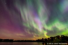 The Northern Lights color the sky over Lindstrom, Minn., on June 22, 2015.  Altamish Osman, Your Take