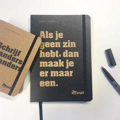 Notebook via ikkemikk. nl Notebooks, Journals, Scrapbooks, Stationary, Studio, Instagram Posts, Notebook, Scrapbooking, Studios