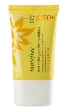 KOREAN COSMETICS, Innisfree, Eco Safety Perfect Sunblock SPF50 + PA + + + 50ml (Long lasting, skin care Organic)[001KR] by Innisfree. $22.00. Item location : Korea and we ship to worldwide. KOREAN COSMETICS, Innisfree, Eco Safety Perfect Sunblock SPF50 + PA + + + 50ml (Long lasting, skin care Organic)[001KR]. Note to the first users : If you have  not used this item before, try the cosmetic with small amount on your skin. If you find any trouble with the product, please st...