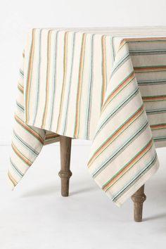 Cabana stripe table cloth