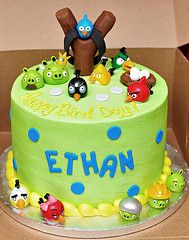 My youngest son's Angry Birds Birthday cake