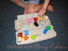 colour sorting game at Flushed with Rosy Colour