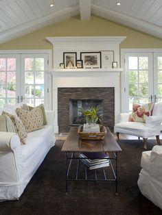 White wood beamed ceiling
