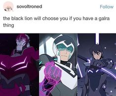 Because the first black paladin WAS galran