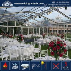 Home - Shelter Clear Wedding Tents Supplier - Event Marquees Solutions Party Tents For Sale, Tent Sale, Tent Wedding, Wedding Reception, Marquee For Sale, Home Shelter, Clear Marquee, Top Tents, Elegant Wedding