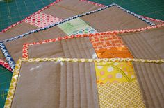 The lovely placemats I received by greenleaf goods, via Flickr