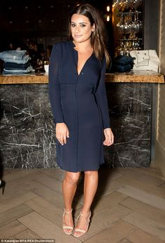Lea Michele oozes an understated elegance as she attends AYR fashion bash | Daily Mail Online