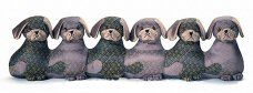 Bouncers Puppies Draught Excluders By Dora Designs http://www.abentleycushions.co.uk/detail.asp?pID=7203