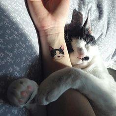 cat tattoo-ideas-wrist-black-w . katzen-tattoo-ideen-handgelenk-schwarz-w… cat tattoo-ideas-wrist-black-white-portrait Tattoo Gato, Cute Cat Tattoo, Tiny Cat Tattoo, Tattoo Ink, Tattoo Shop, Kitty Tattoos, Cat Face Tattoos, Cat Outline Tattoo, Cat Paw Print Tattoo