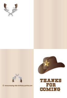 FREE Cowboy Hat Thank You Card