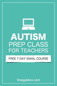 Free email course to help teachers prepare their classroom for students with autism