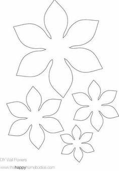 Patrn Diademas Handmade Flowers Free Printable Flower Templates Felt Template Paper Craft