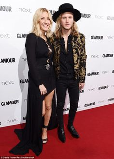 Cute couple: Ellie Goulding has admitted she is feeling 'broody' and she and rocker beau Dougie Poynter 'often' speak about having children