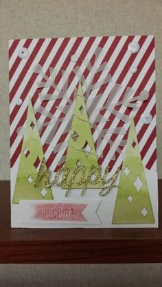Stampin' Up! demonstrator Shallon V's project showing a fun alternate use for the Watercolor Winter Simply Created Card Kit.