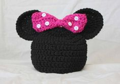 Crochet Minnie Mouse Hat by TheYarnFool on Etsy by valeria