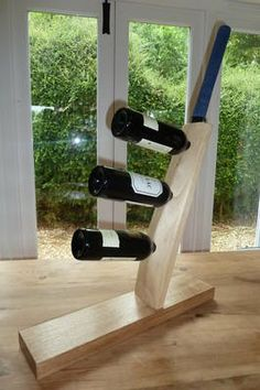 Cricket Bat Wine Rack