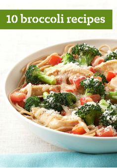 10 Broccoli Recipes -- Broccoli is always welcome at the dinner table! From cheesy pasta dishes to chicken casseroles, you'll turn non-fans into converts with these delicious broccoli options.